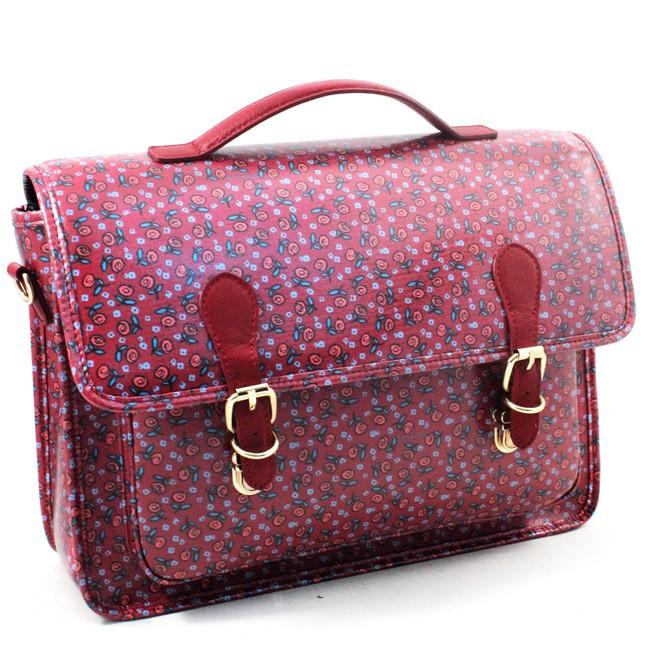 Dual-use satchel-backpack Naj-Oleari Martina with leather trim, Baglicious