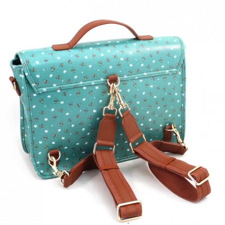 Dual-use satchel-backpack Naj-Oleari Apine with leather trim, Baglicious