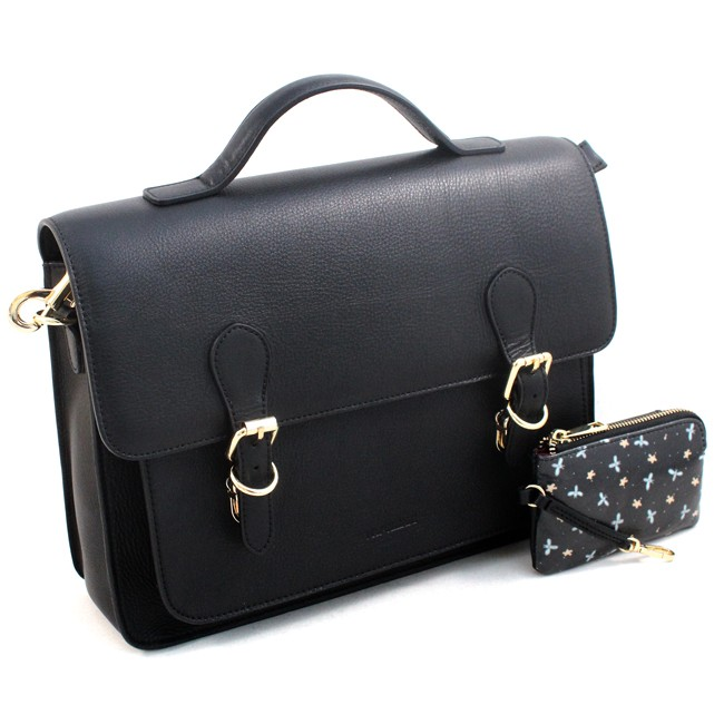 Satchel daily-use Naj-Oleari Florence in real leather, Baglicious